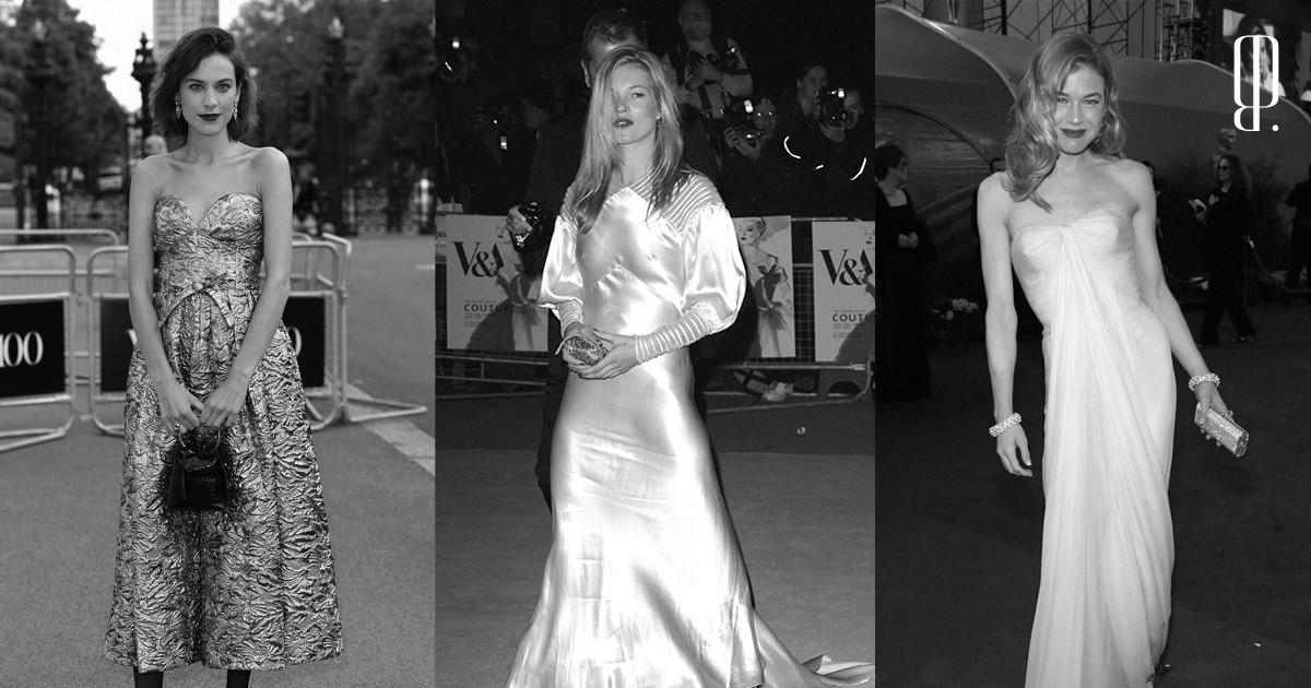 Выходы знаменитостей ввинтажных платьях