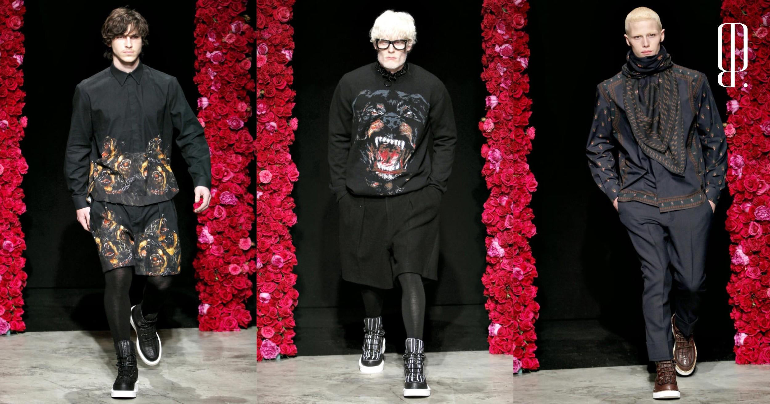 b05d6883e557 Ротвейлеры, шорты и мужские колготки: показ Givenchy осень-зима 2011
