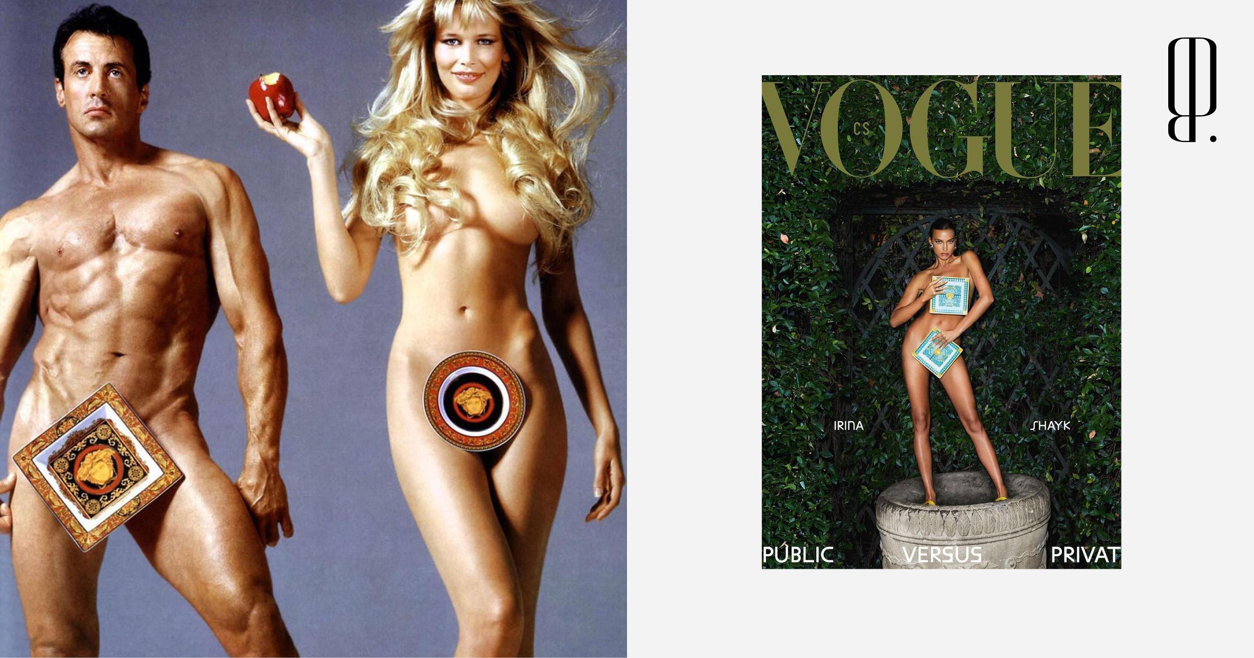 Голая Ирина Шейк в Vogue CS — прямо Клаудия Шиффер и Сильвестр Сталлоне для Versace Home